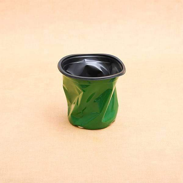 5.1 inch (13 cm) Round Thermoform Pot  (Green) (set of 20) - Nurserylive