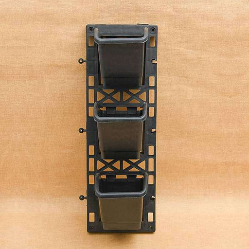 5.1 inch (13 cm) Vertical Garden Square Plastic Pots With Frame (Black) - Nurserylive