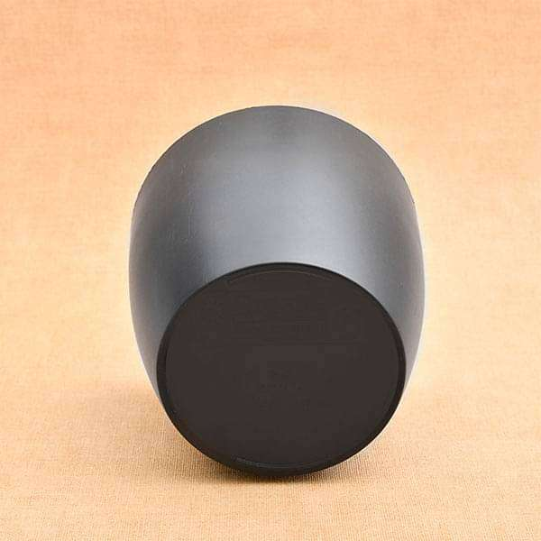 5.3 inch (13 cm) Ronda No. 1412 Round Plastic Planter (Black) (set of 6) - Nurserylive