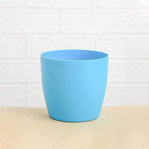 5.3 inch (13 cm) Ronda No. 1412 Round Plastic Planter (Turquoise) (set of 6) - Nurserylive