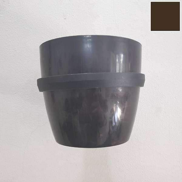 5.3 inch (13 cm) Ronda No. 1412 Wall Mounting Round Plastic Planter (Coffee Color) - Nurserylive