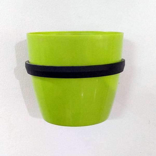5.3 inch (13 cm) Ronda No. 1412 Wall Mounting Round Plastic Planter (Green) - Nurserylive