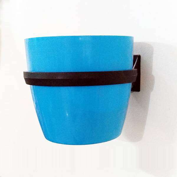 5.3 inch (13 cm) Ronda No. 1412 Wall Mounting Round Plastic Planter (Turquoise) - Nurserylive