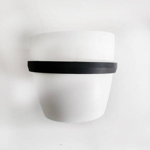 5.3 inch (13 cm) Ronda No. 1412 Wall Mounting Round Plastic Planter (White) - Nurserylive