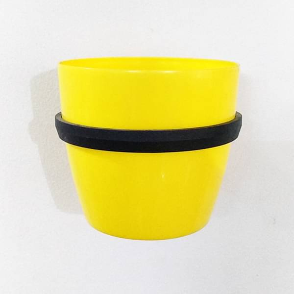 5.3 inch (13 cm) Ronda No. 1412 Wall Mounting Round Plastic Planter (Yellow) - Nurserylive