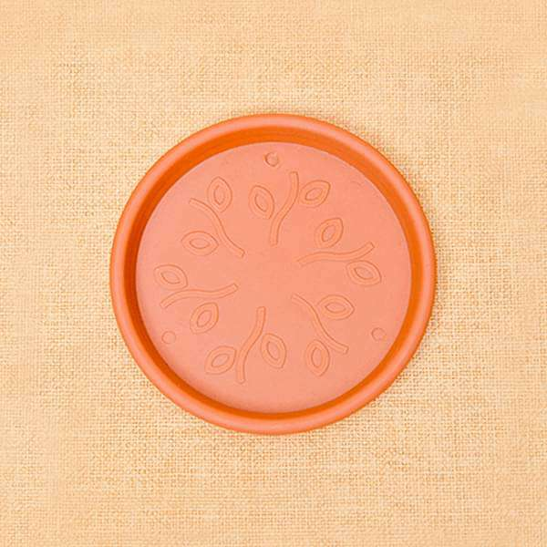 5.9 inch (15 cm) Round Plastic Plate for 5 inch (13 cm) , 6 inch (15 cm) Grower Pots (Terracotta Color) (set of 6) - Nurserylive