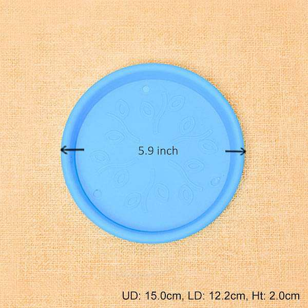 5.9 inch (15 cm) Round Plastic Plate for 6 inch (15 cm) Grower Pots (Sky Blue) (set of 6) - Nurserylive