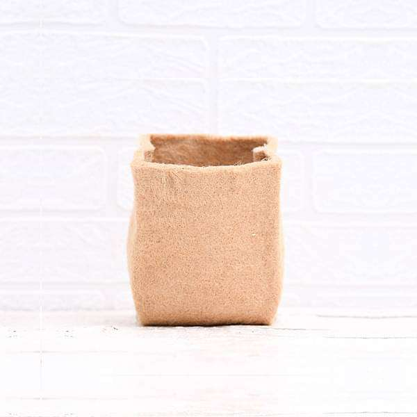 5 inch (13 cm) Eco Friendly Jute Grow Bag (Brown) (set of 2) - Nurserylive