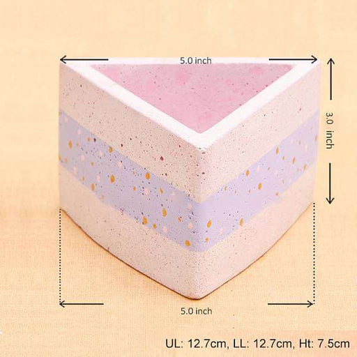 5 inch (13 cm) Valley Concrete Pot (Rustic Pink, Purple) - Nurserylive