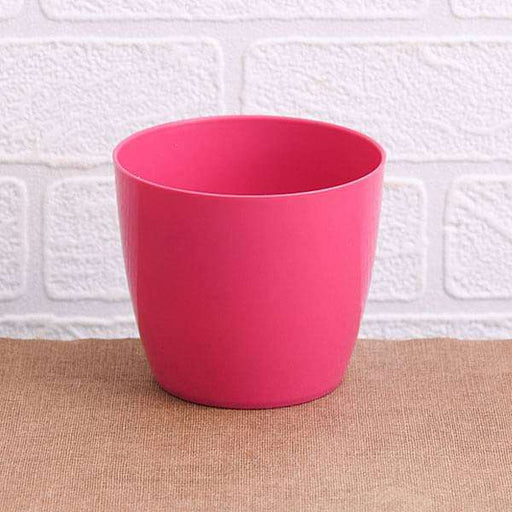 6.3 inch (16 cm) Valencia 16 Round Plastic Planter (Dark Pink) (set of 6) - Nurserylive