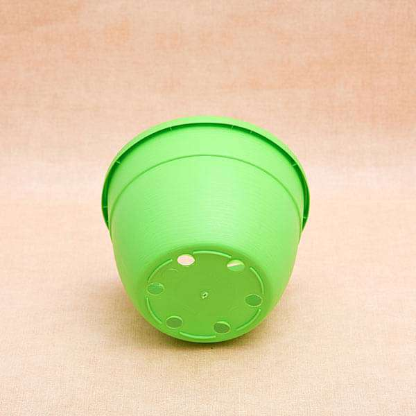 7.1 inch (18 cm) Corsica No. 18 Hanging Round Plastic Pot (Green) (set of 6) - Nurserylive
