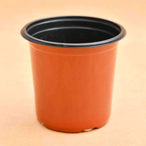 7.2 inch (18 cm) Round Thermoform Pot  (Terracotta Color) (set of 20) - Nurserylive