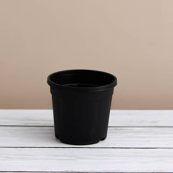 7 inch (18 cm) Grower Round Plastic Pot (Black) (set of 6) - Nurserylive