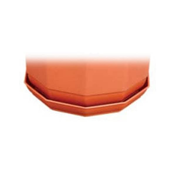 7 inch (18 cm) Round Plastic Plate for 8.2 inch (21 cm) Jasmine No.8 Planter  (Terracotta Color) (set of 6) - Nurserylive