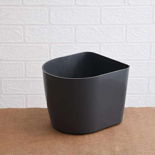 8.5 inch (22 cm) D Shape Plastic Planter (Grey) - Nurserylive