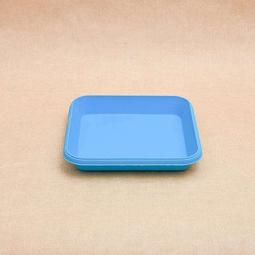 8.6 inch (22 cm) Square Plastic Plate for 10 inch (25 cm) Bello Square Pot (Sky Blue) (set of 3) - Nurserylive