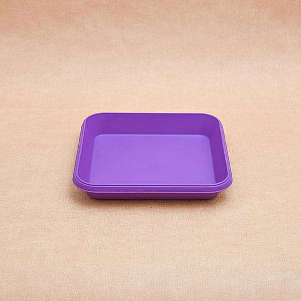 8.6 inch (22 cm) Square Plastic Plate for 10 inch (25 cm) Bello Square Pot (Violet) (set of 3) - Nurserylive