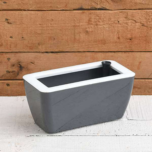 8 inch (20 cm) Recta Self Watering Rectangle Plastic Planter (Grey) - Nurserylive