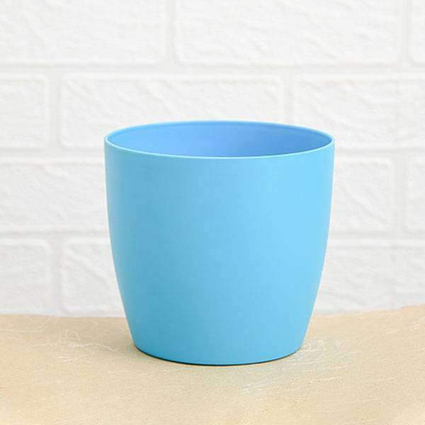 9.1 inch (23 cm) Ronda No. 2320 Round Plastic Planter (Turquoise) (set of 3) - Nurserylive