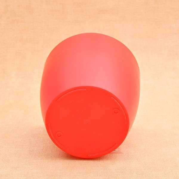 9.1 inch (23 cm) Ronda No. 2320 Self Watering Round Plastic Planter (Red)