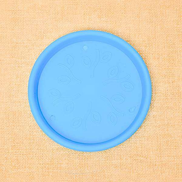 9.6 inch (24 cm) Round Plastic Plate for 10 inch (25 cm) Grower Pots (Sky Blue) (set of 3) - Nurserylive
