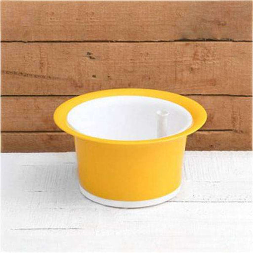 9 inch (23 cm) Bonsai 3T Self Watering Round Plastic Planter (Yellow) - Nurserylive