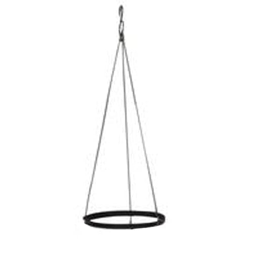 Uri 1 tier hanging set for ronda no. 1412 planter (Black) (set of 3) - Nurserylive