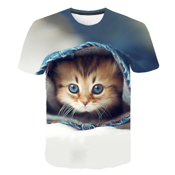 Printed Cat Shirt