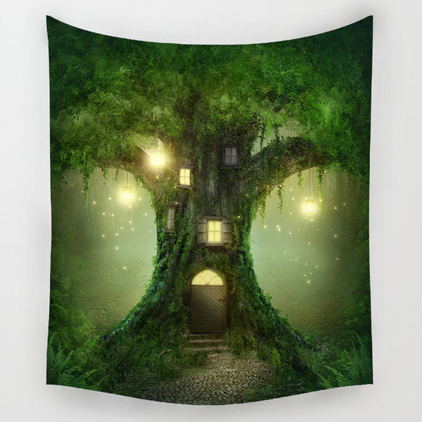 Dream Treehouse Tapestry