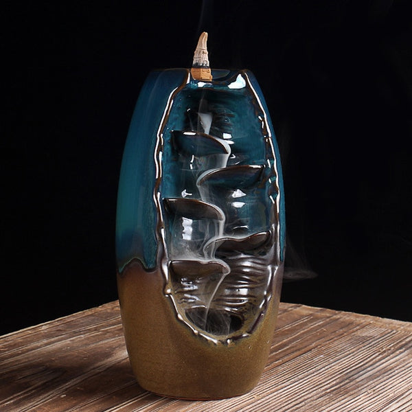 Blue Waterfall Incense Burner