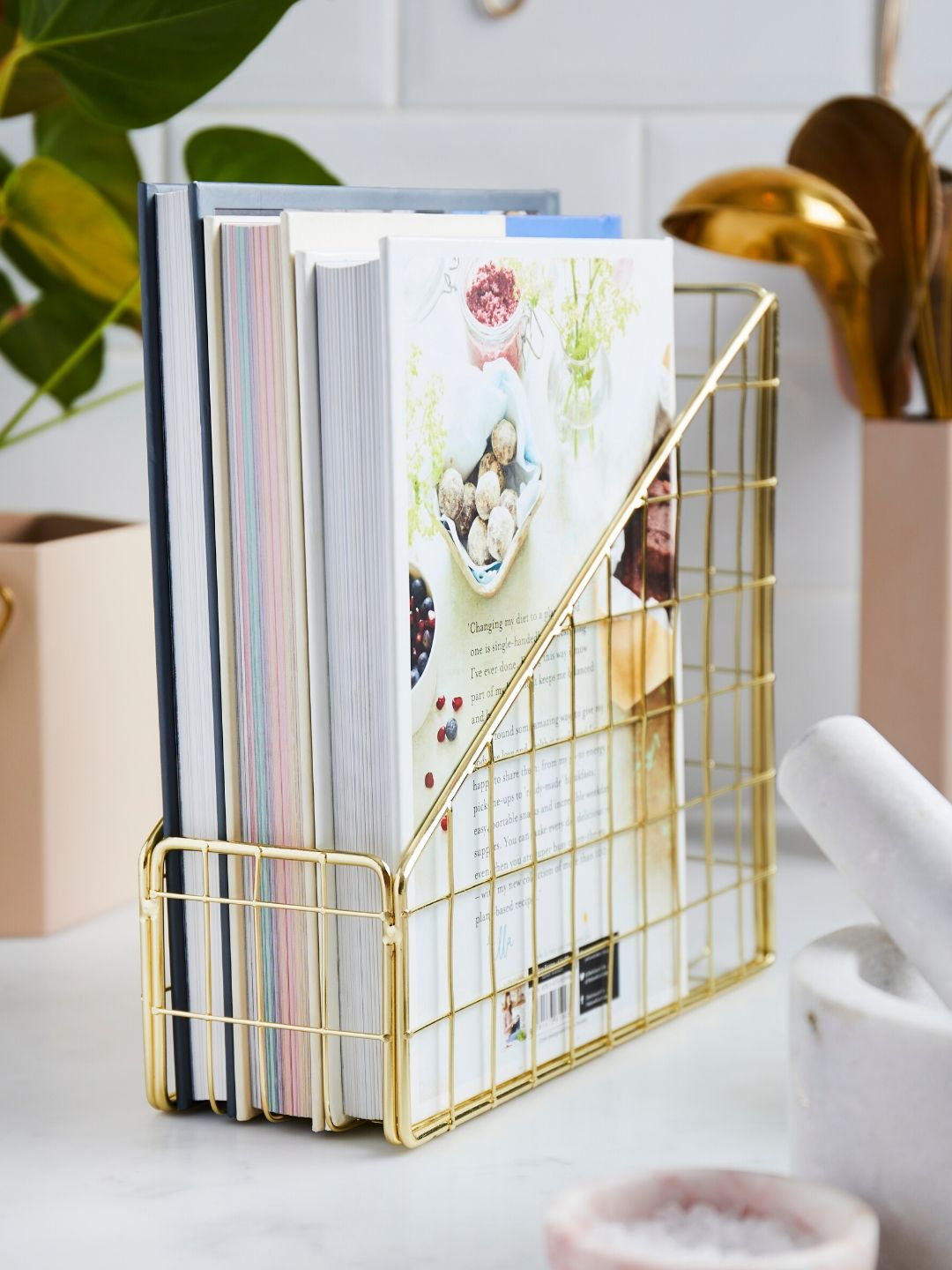 Gold Luxury Storage Desk Organiser - My Life Handmade