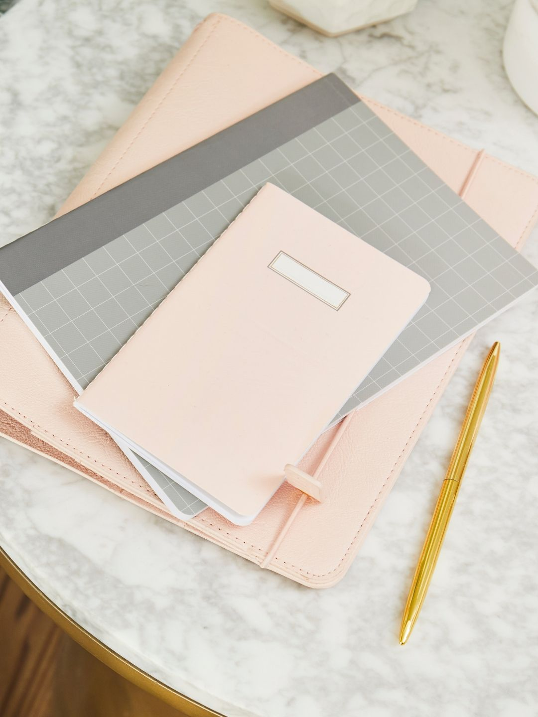 Small Pink Dotted Notebook