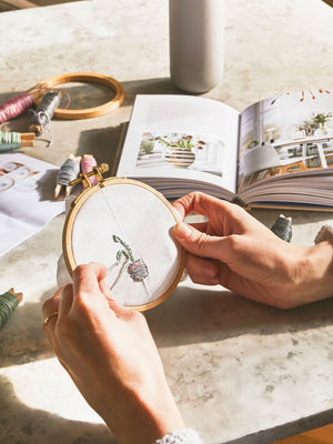 Mini Embroidery Hoop Craft Kit