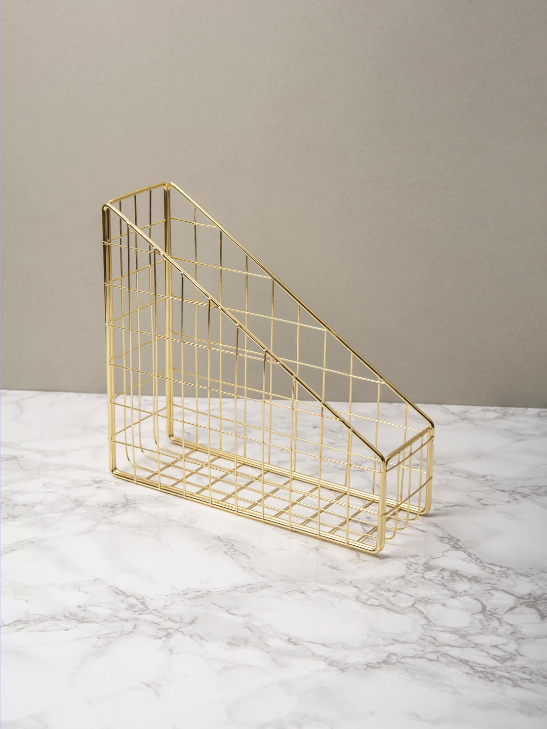 Gold Storage Desk Organiser
