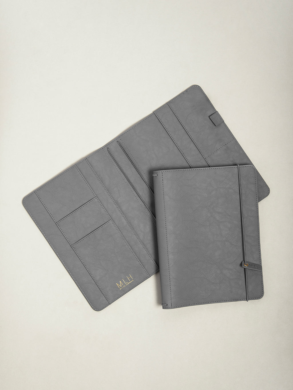 Dark Grey PU Leather A5 Journal Holder