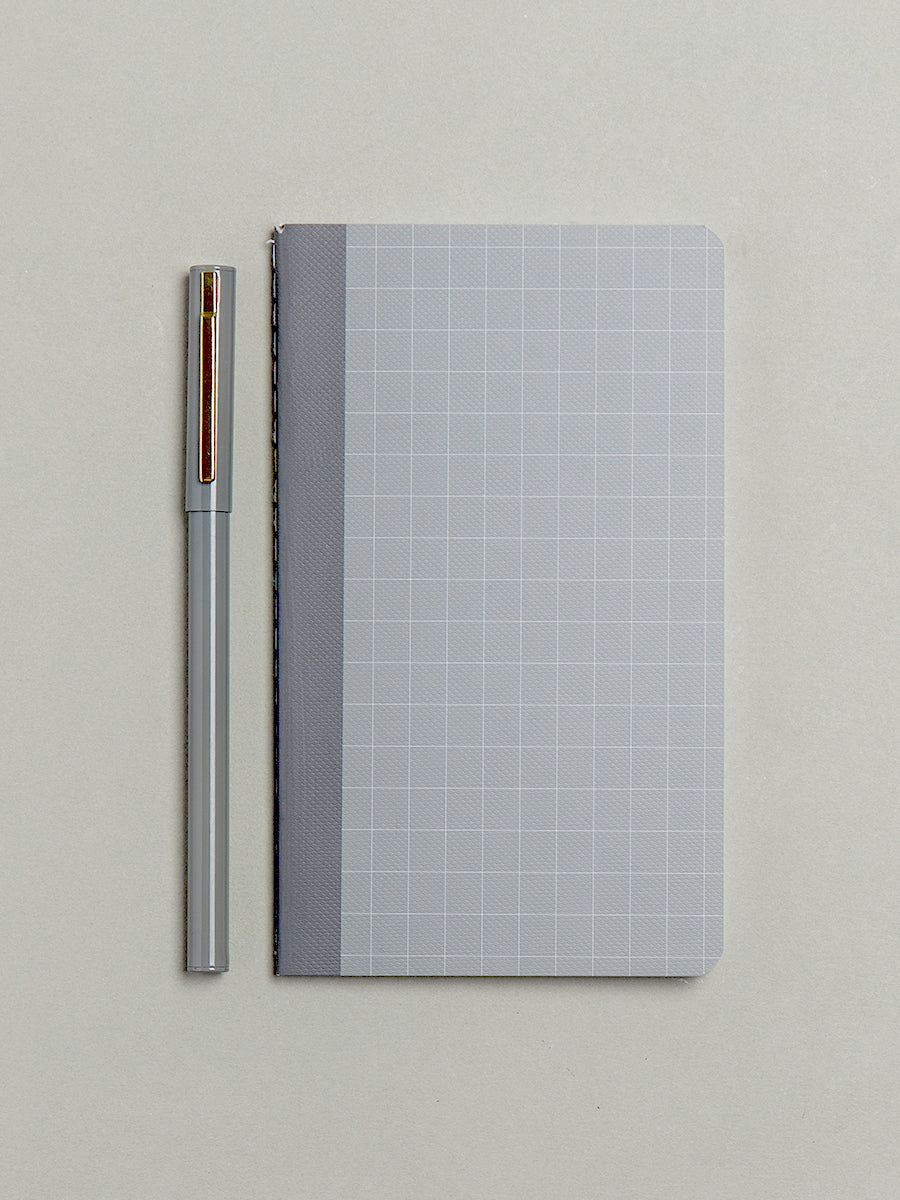 Small Grey Dotted Notebook