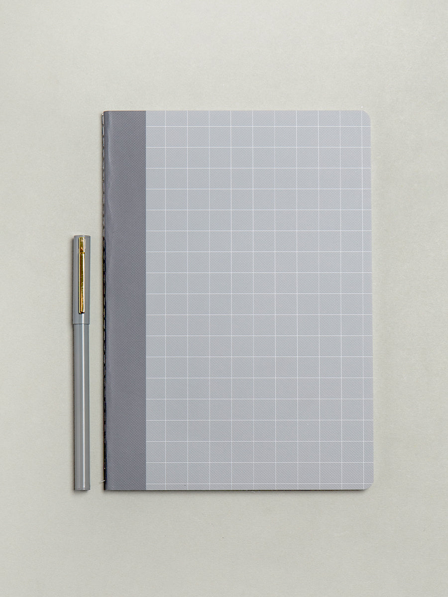 Grey A5 Plain Luxury Notebook - My Life Handmade