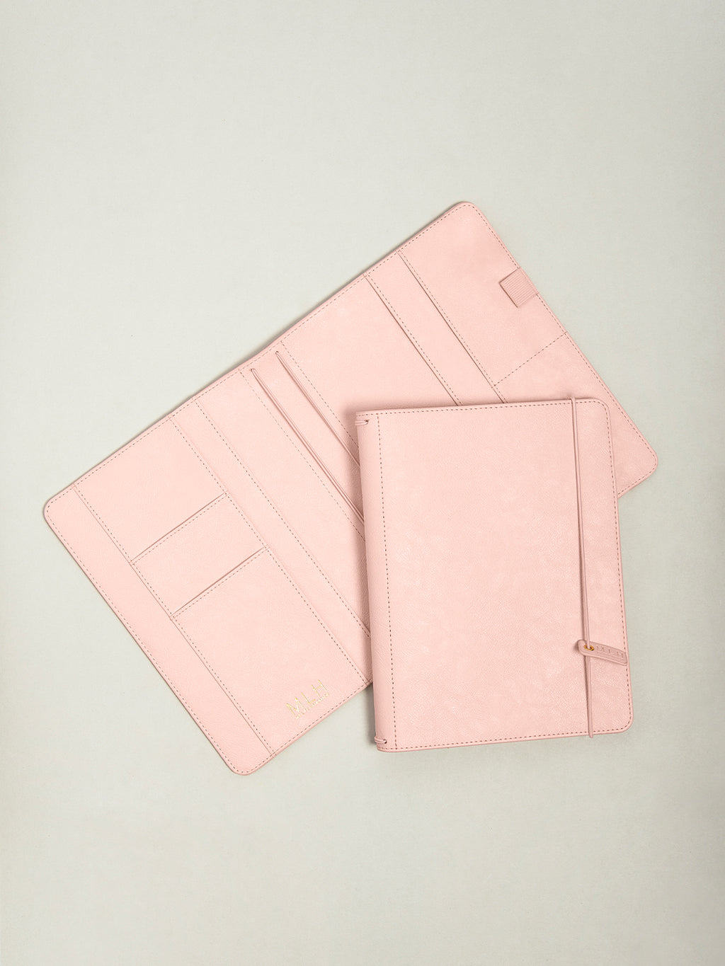 Pink PU Leather A5 Journal Holder - My Life Handmade