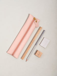 Pink PU Leather Pencil Case