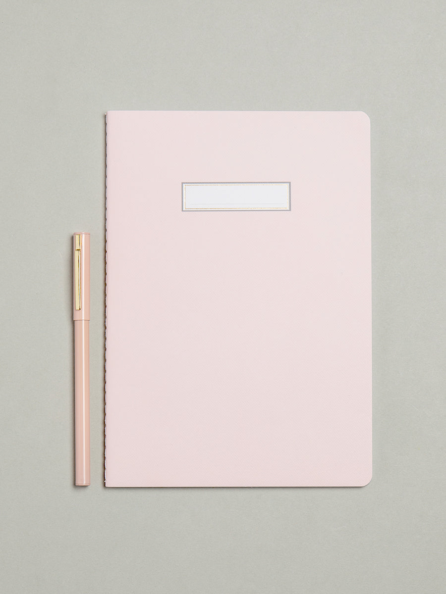 Pink A5 Lined Luxury Notebook - My Life Handmade