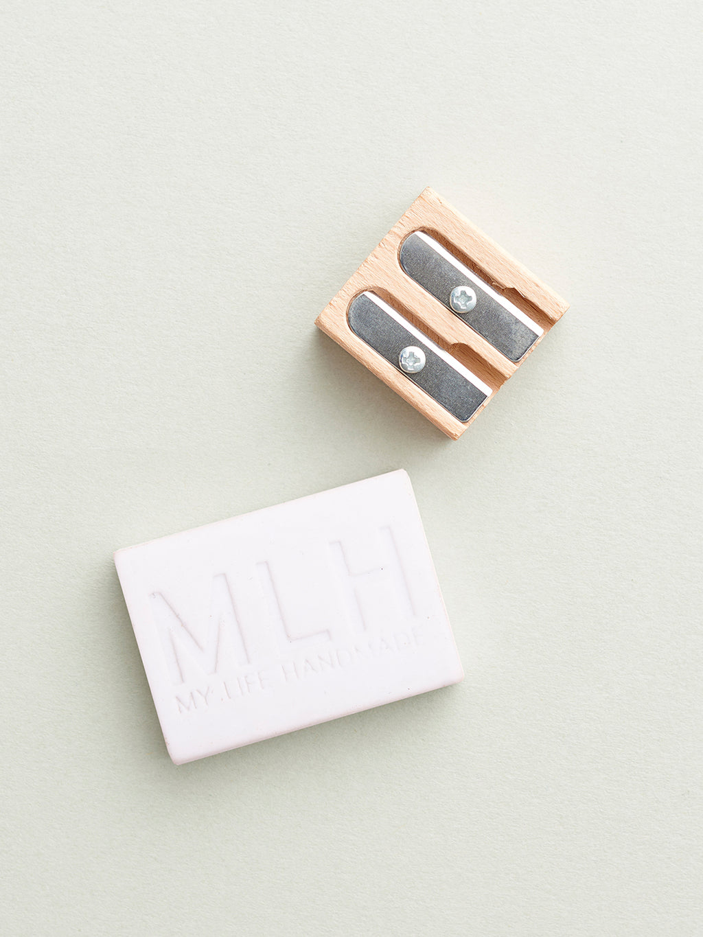 Pencil Sharpener and White Rubber Set - My Life Handmade