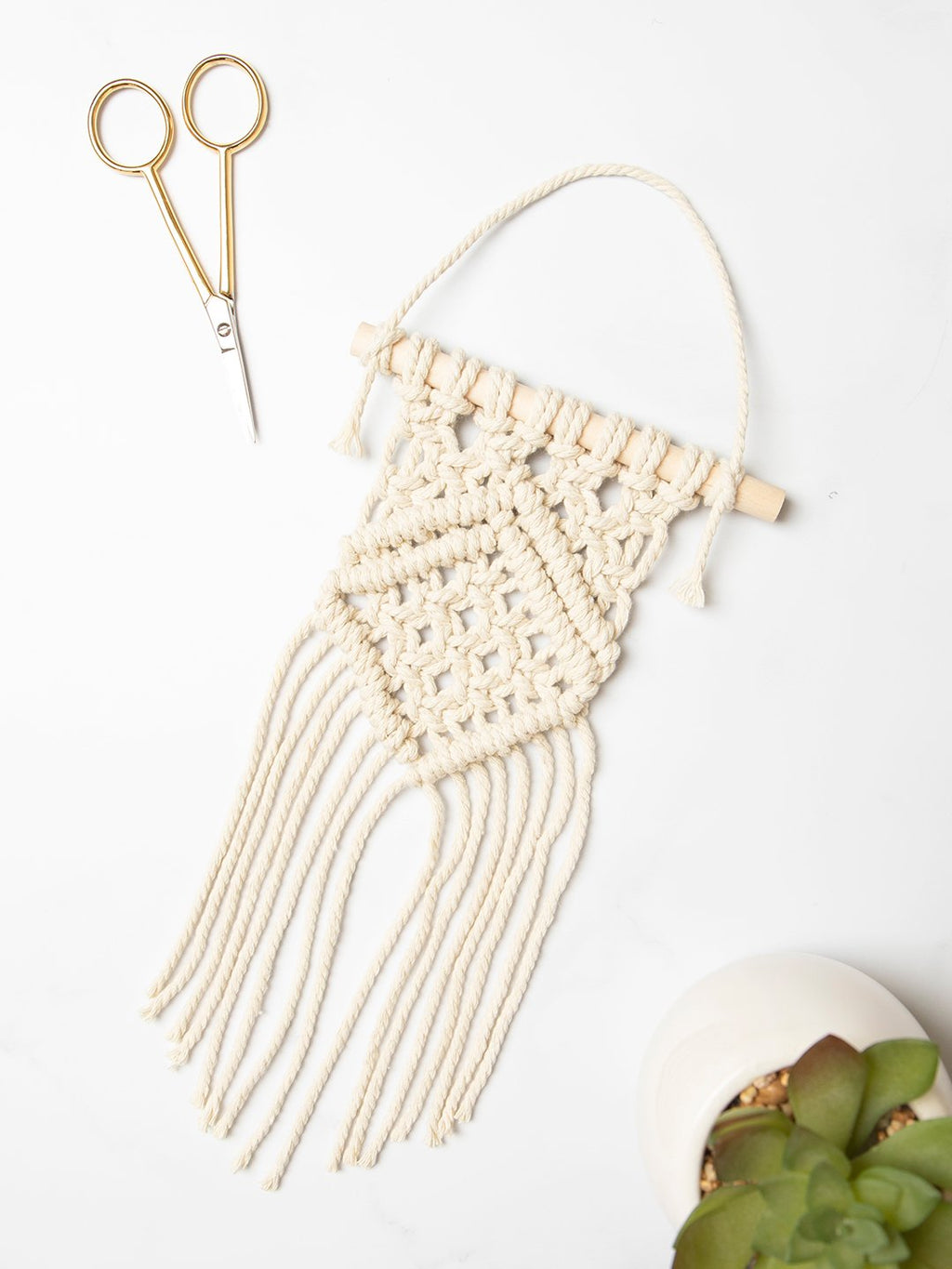 Mini Macrame Wall Hanging Craft Kit