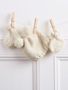 Knitted Baby Hat and Boot Kit
