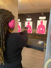 women shooting Hard Candy Women's Self Defense