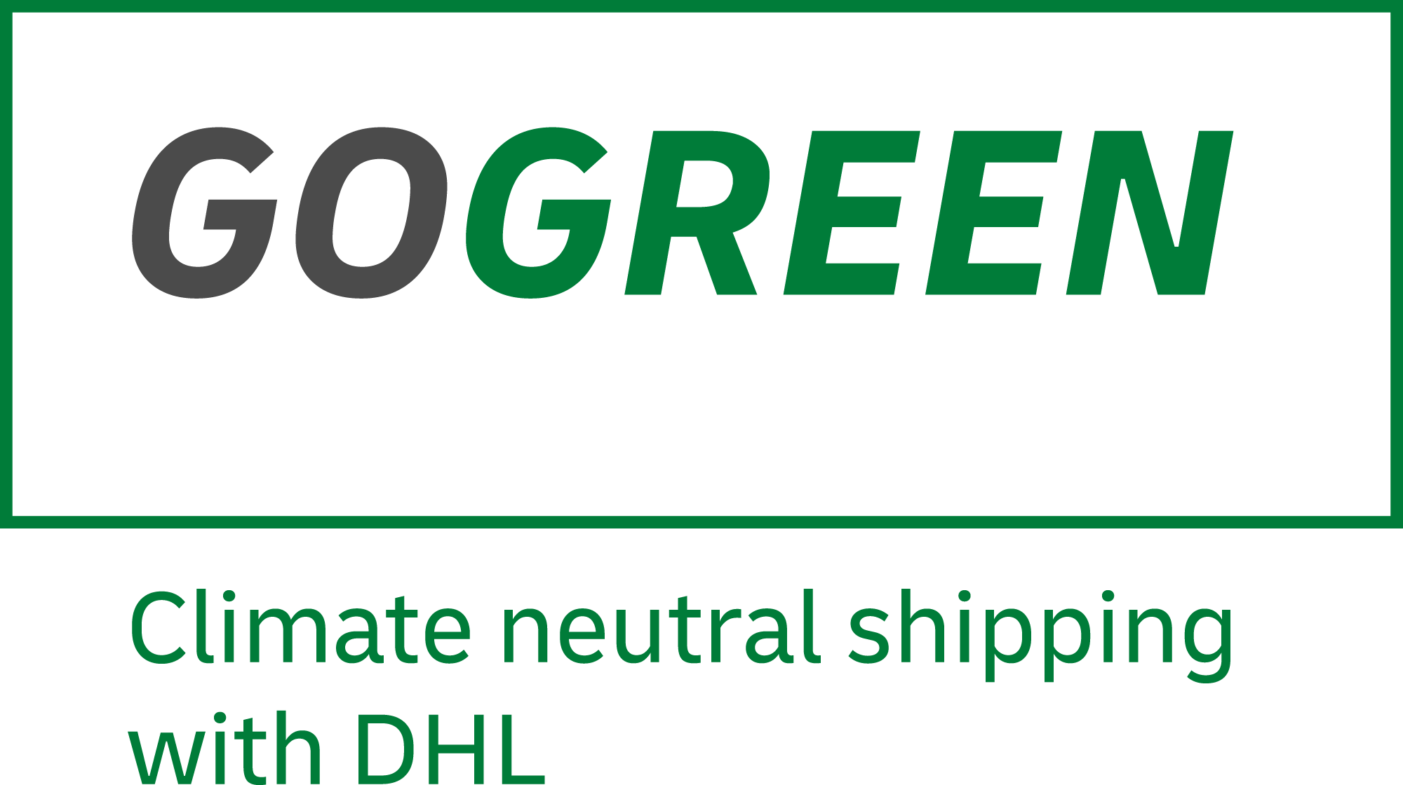 DHL GoGreen bei Pocketsentials