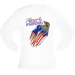 Ugly Fishing shirt American Flag design