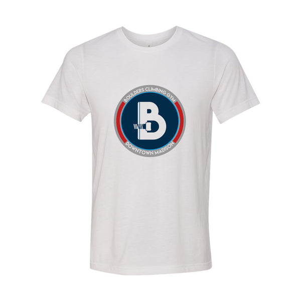 Boulders Downtown Logo Triblend Tee - Solid White Triblend