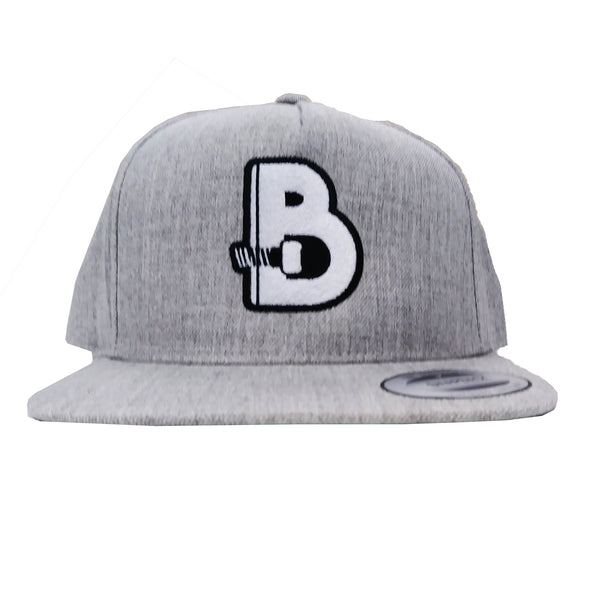 Boulders Inc Bolt Snapback - Heather Grey