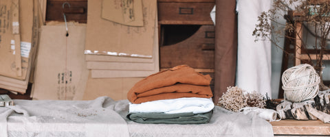 MATTA Clothing card patterns and folded linen