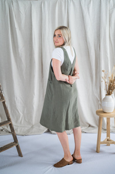 Crossback Tunic - Sage - Matta Clothing